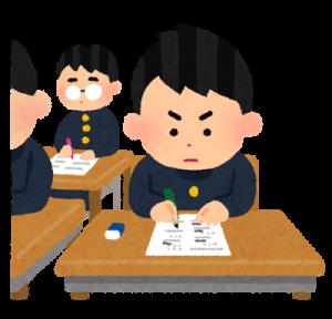 試験中の男子学生