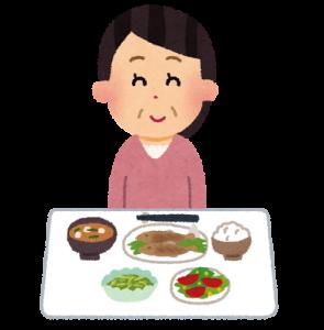 低カロリーな食事をする女性